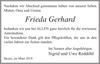 Frieda Gerhard