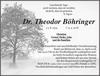 Dr. Theodor Böhringer