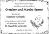 Gretchen und Martin Hansen