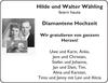 Hilde und Walter Wähling Diamantene