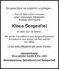 Klaus Sorgenfrei