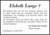 Elsbeth Lange