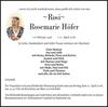Rosi Rosemarie Höfer