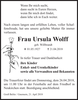Frau Ursula Wolff