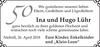 und Hugo Lühr