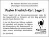 Pastor Friedrich-Karl Sagert