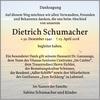 Dietrich Schumacher