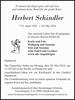 Herbert Schindler
