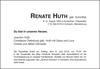 RENATE HUTH