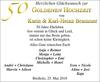 Goldenen Hochzeit Karin und Karl-Heinz Brammer
