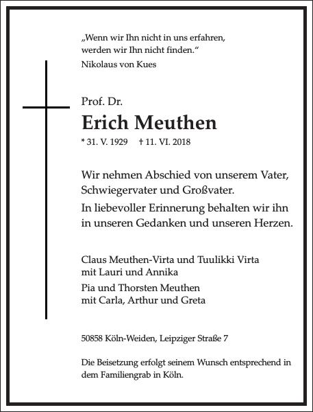 Erich Meuthen