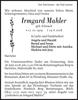 Irmgard Mahler