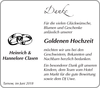 Heinrich und Hannelore Clasen
