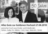 50 Jahre Alles Gute zur Goldenen Hochzeit