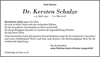 Dr. Kersten Schulze