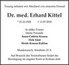 Dr. med. Erhard Kittel