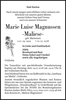 Marie Luise Magnussen-Maliese