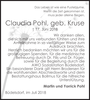 Claudia Pohl geb. Kruse