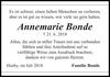 Annemarie Bonde