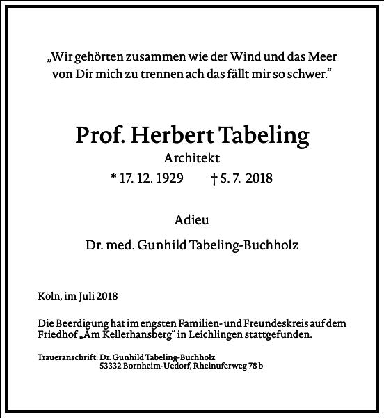 Prof. Herbert Tabeling