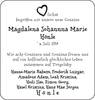 Magdalena Johannna Marie Hönle Hönle
