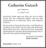 Catharine Gatzsch