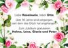 Liebe Rosemarie, lieber Otto
