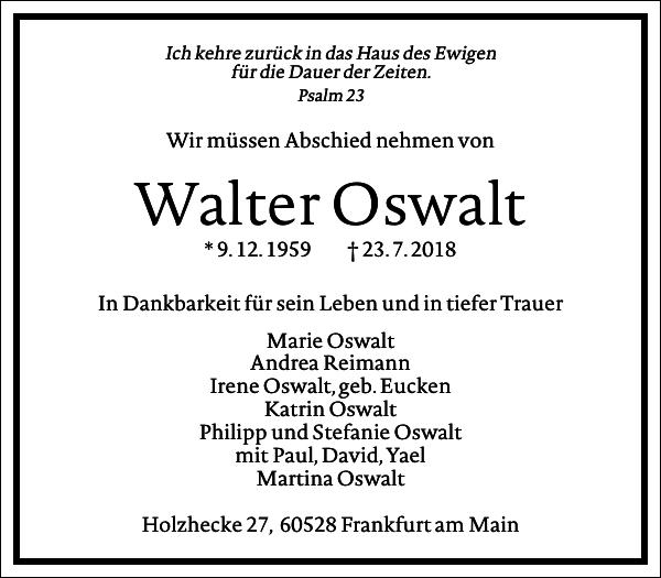 Walter Oswalt