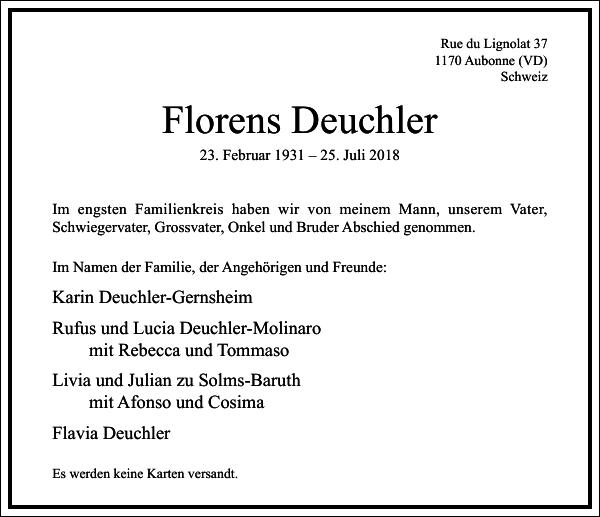 Florens Deuchler