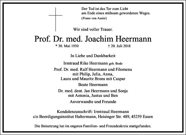 Prof. Dr. med. Joachim Heermann
