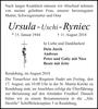 Ursula 'Uschi' Ryniec
