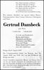 Gertrud Dambeck
