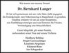 Dr. Bernhard Langer