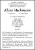 Klaus Mickmann