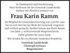 Frau Karin Ramm