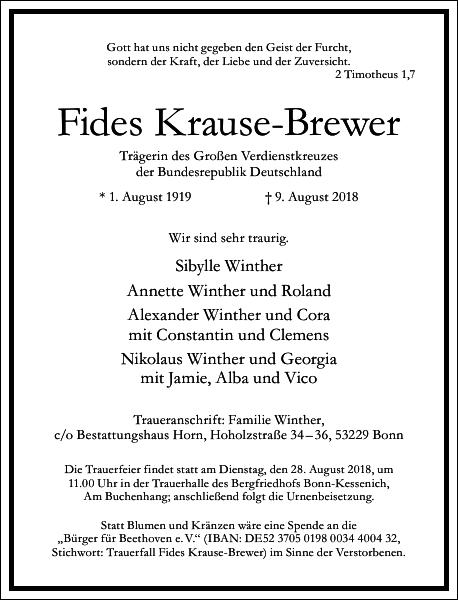Fides Krause-Brewer