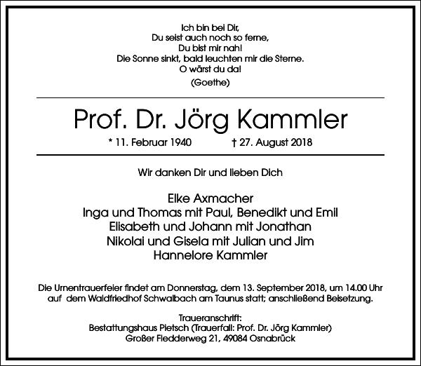 Prof. Dr. Jörg Kammler
