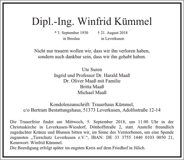Dipl.-Ing. Winfrid Kümmel