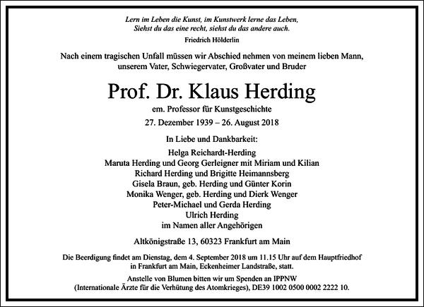 Prof. Dr. Klaus Herding