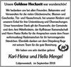 Karl-Heinz und Hella Mengel