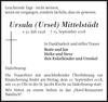Ursula Ursel Mittelstädt