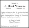Dr. Horst Neumann