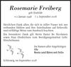 Rosemarie Freiberg