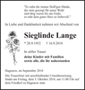 Sieglinde Lange