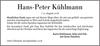 Hans-Peter Kühlmann