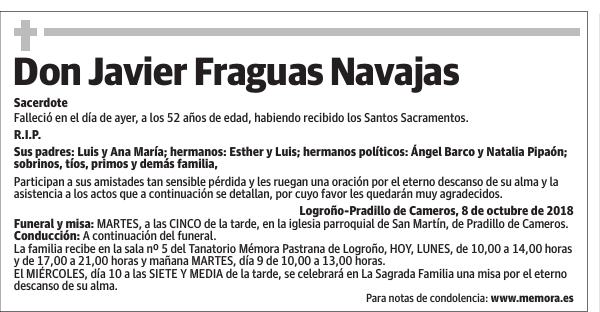 Don Javier Fraguas Navajas