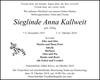 Sieglinde Anna Kallweit