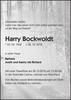 Harry Bockwoldt