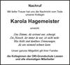 Karola Hagemeister
