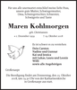 Maren Kohlmorgen